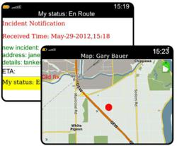 MPACIRT features PIN to PIN with Auotmated Status, GPS &amp; Maps